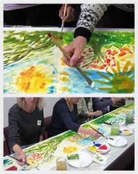 groepsschilderij workshop
